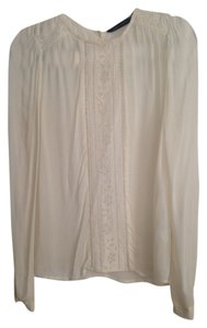 Zara Sheer Lace Top Beige