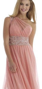 Morrell Maxie Evening Prom Gown One Rose Party Dress