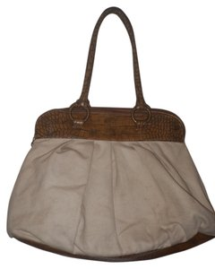 Simply Vera Vera Wang Satchel Tote in Cream / Brown