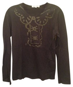 Comme des Garçons Doodle Cartoon Wool Wool Peter Pan Collar Longsleeve Lightweight Lightweight Sweater