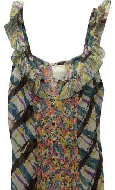 Anna Sui Top Floral And Plaid