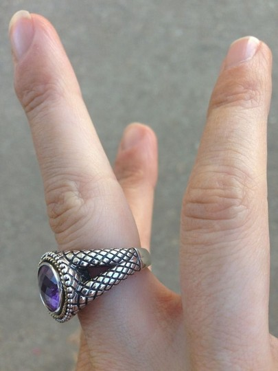 Andréa Candela Authentic Andrea Amethyst Candela Ring size 7 resizeable