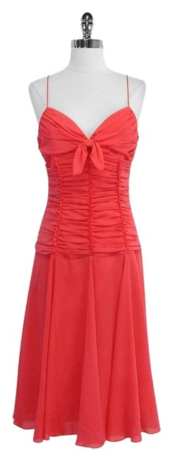 David Meister short dress Silk Ruched on Tradesy