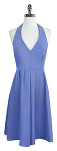 J.Crew short dress Periwinkle Silk Halter on Tradesy
