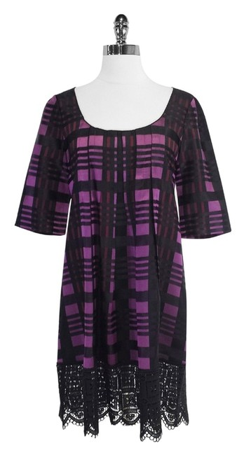 Preload https://item3.tradesy.com/images/anna-sui-purple-and-black-plaid-trapeze-mid-length-short-casual-dress-size-petite-4-s-4070782-0-0.jpg?width=400&height=650
