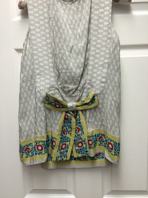 Anna Sui Top Blue And Yellow