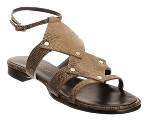Proenza Schouler Flat Sand colored snake Sandals