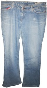 Chip and Pepper Distressed Boot Cut Pants Denim