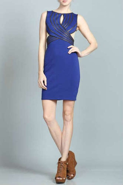 Ark & Co. Mesh Cutout Bodycon Pencil Wiggle Dress