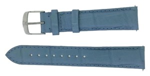Michele Authentic Michele 18mm Blue Alligator Leather Watch Band Strap MS18AA010950