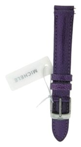 Michele MICHELE 18mm Violet Patent Leather Watch Band Strap