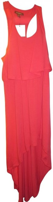 Item - Coral Racer-back High-low Casual Maxi Dress Size 16 (XL, Plus 0x)