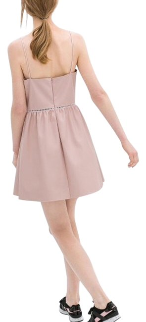 Preload https://item1.tradesy.com/images/zara-pink-faux-leather-collection-back-zipper-above-knee-night-out-dress-size-12-l-4072000-0-0.jpg?width=400&height=650