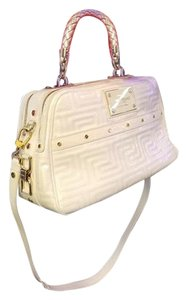 Versace Brand Gucci Burberry Satchel in Ivory , Cream,
