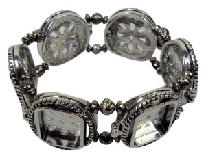 Closeoutservices Photo Bracelet - Silver Tone Metal, Holds 6 Photos - Expandable Fits Most Sizes.