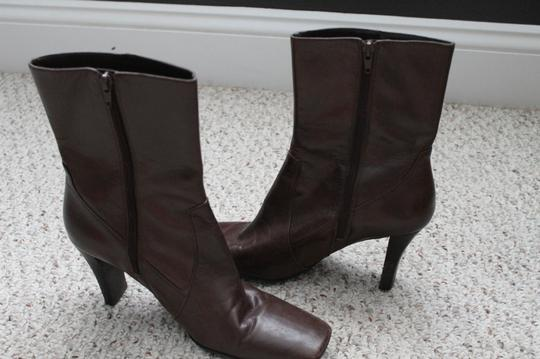 Nine West Leather Brown Boots