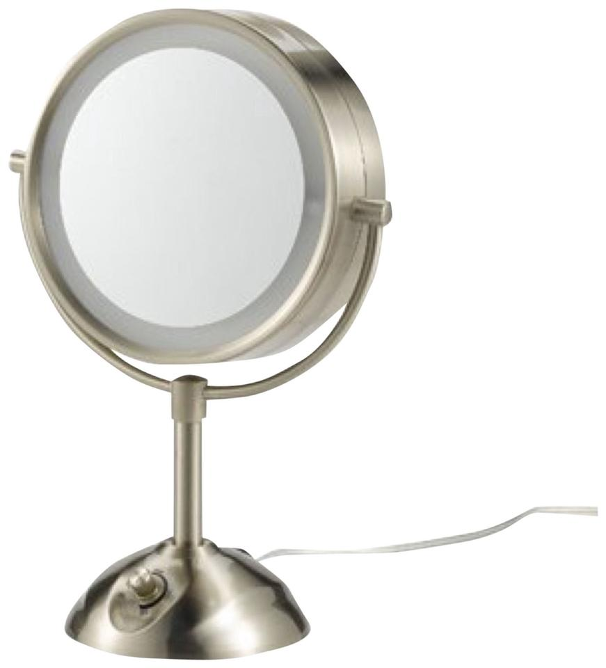 Conair Nickel Lighted Double Sided Mirror Tech Accessory