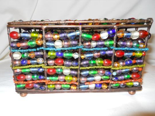 Other Handcrafted copper frame glass bead box