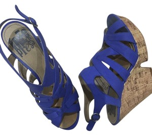 Free Press Royal Blue Wedges