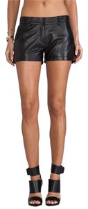 Genuine Leather Short Mini/Short Shorts Black