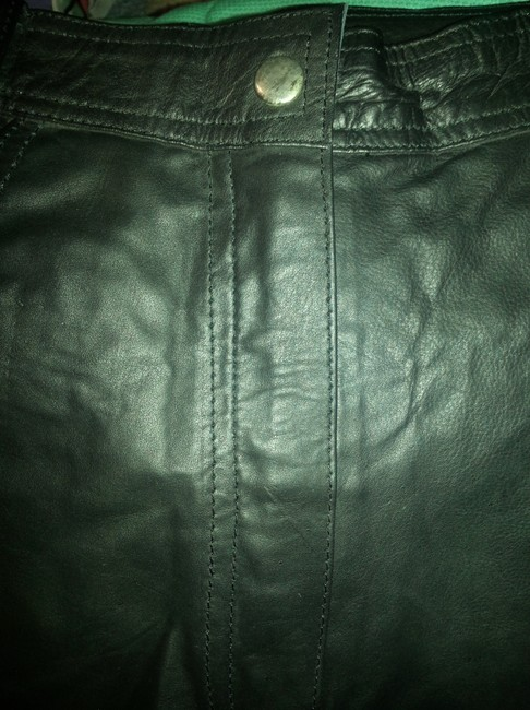 Other Genuine Leather New W/Tag Chic Mini/Short Shorts Black