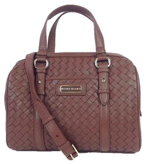Preload https://item2.tradesy.com/images/cole-haan-junia-woven-barrel-chd11009-sequoia-brown-leather-satchel-4073296-0-0.jpg?width=440&height=440