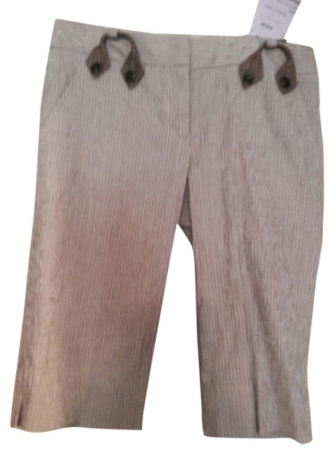 Item - Brown with Sublte Cream Accents Knee Length Shorts Size 0 (XS, 25)