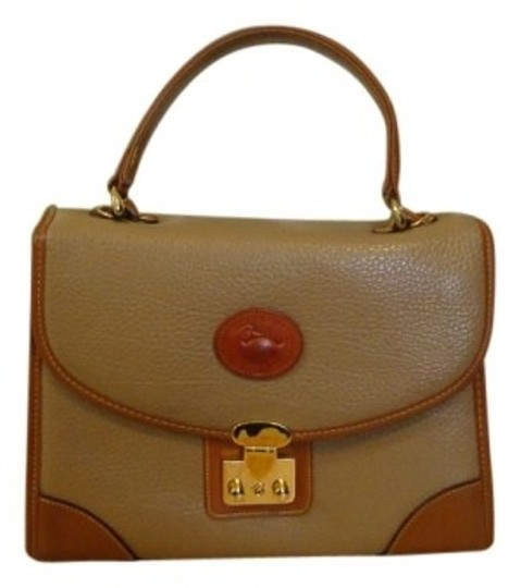 Preload https://item4.tradesy.com/images/dooney-and-bourke-all-tan-with-brown-border-leather-tote-40738-0-0.jpg?width=440&height=440