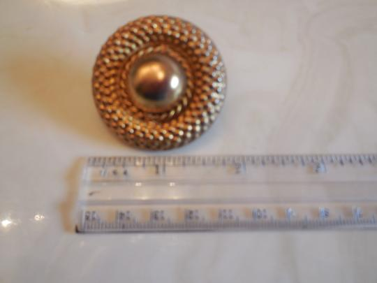 Other Goldtone Round Hinged Scarf Clip