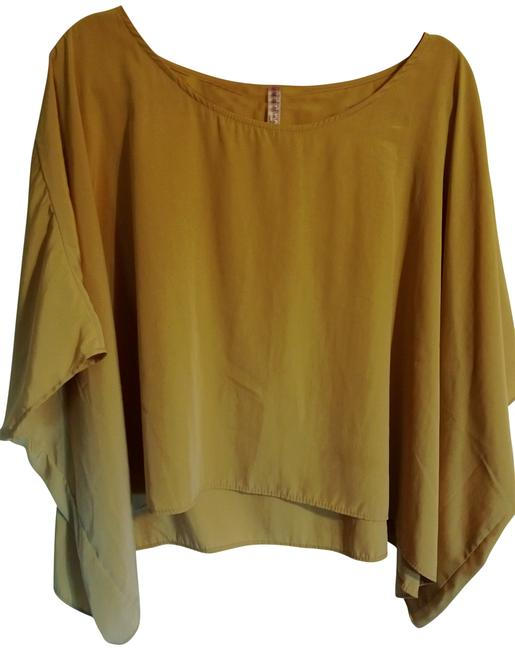 Preload https://img-static.tradesy.com/item/407431/mustard-yellow-pixie-dust-blouse-size-6-s-0-0-650-650.jpg