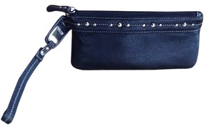 Kenneth Cole Reaction Wristlet in Black Leather