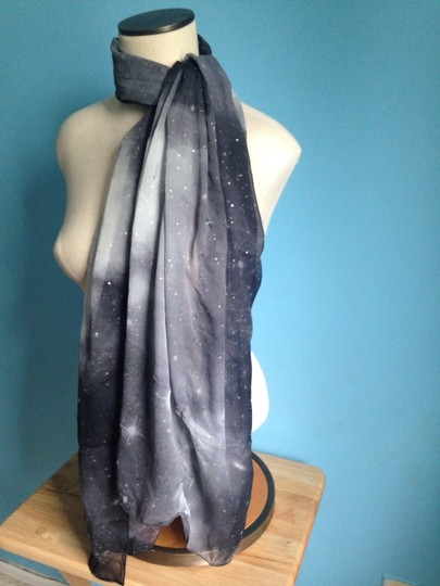 Jack Pot Black And Silver Ombr Oversized Scarf/Wrap