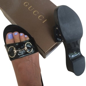 Gucci Bulk patten with gold bits Mules
