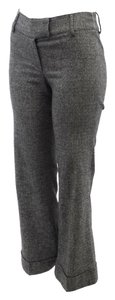 Piazza Sempione Herringbone Wool Trouser Pants Gray
