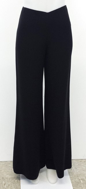 Ralph Lauren Silk Wide-leg Trouser Pants Black