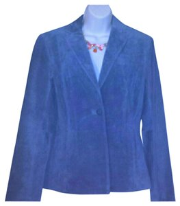 Alfani #leather #suede #leatherjacket #office #outerwear Cornflower Blue Leather Jacket