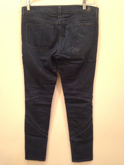 7 For All Mankind Skinny Moto Rare Hard To Find 28 Cargo Jeans-Dark Rinse
