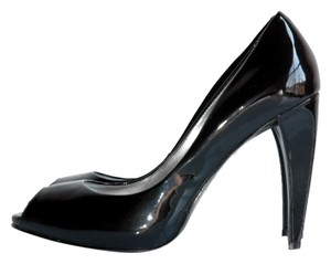 Marc Fisher Patent Leather Peep Toe Classic Office black Pumps