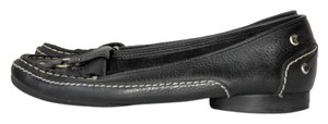 BCBGMAXAZRIA Leather White Stitching black Flats