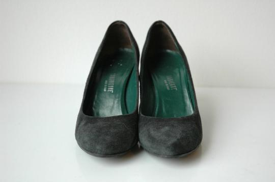 La Canadienne Suede Almond Toe Office black Pumps