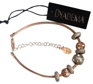 DYADEMA Italy Made Sterling & Rose Gold Bracelet