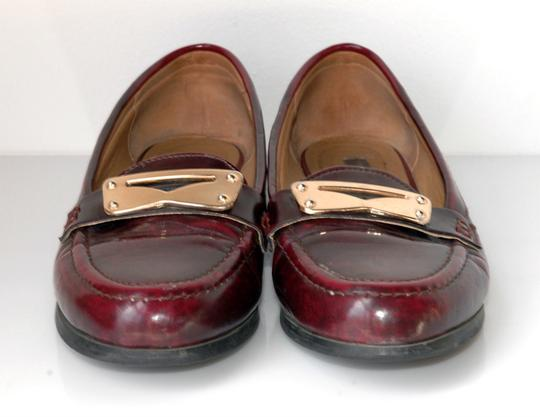Cooperative Penny Loafers Gold burgundy Flats
