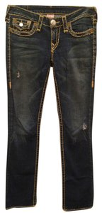True Religion Wash Straight Leg Jeans-Dark Rinse