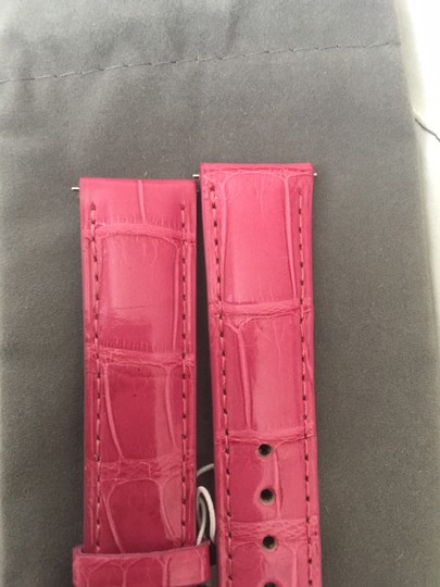 Michele NWT MICHELE ROSE PINK ALLIGATOR STRAPS 18mm