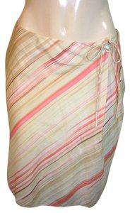 Tommy Bahama Pencil Striped Summer Skirt Beige, coral