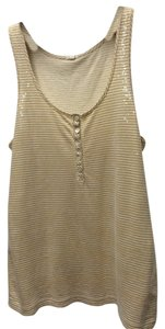 J.Crew Top Beige And White