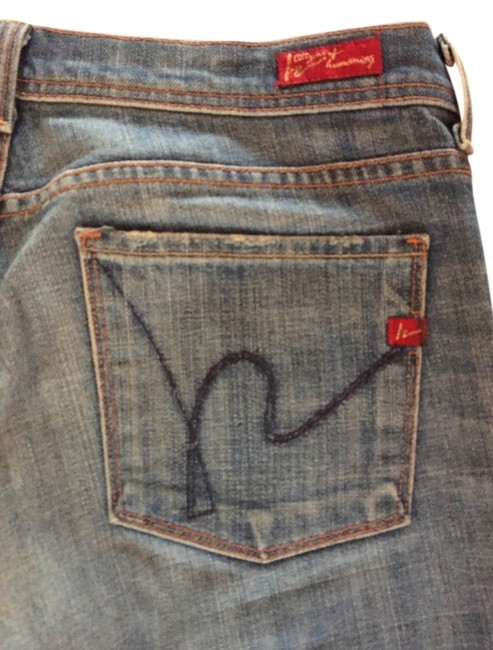 Item - Distressed Boot Cut Jeans Size 29 (6, M)