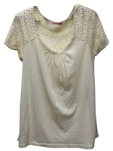 Anthropologie T Shirt Cream
