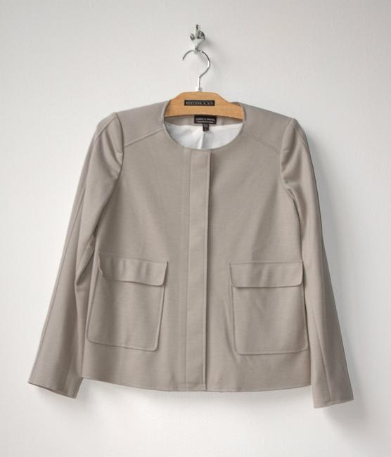 Judith & Charles Double Faced Wool Structure gray Jacket