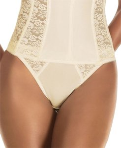 Dominique Dominique Lace Trimmed Thong Style 349 Ivory Size L